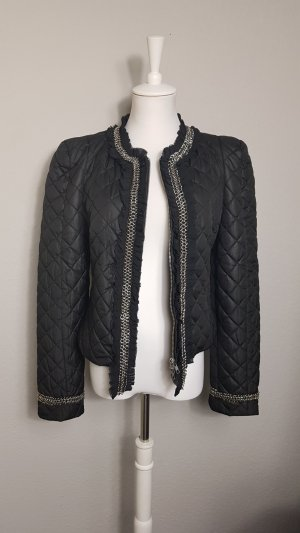 Alba Moda Quilted Jacket black-silver-colored