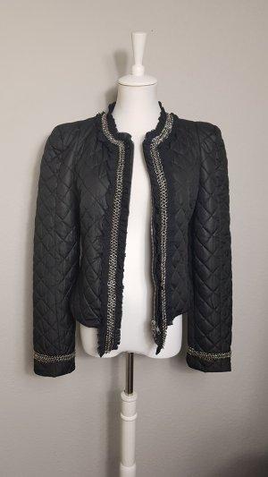 Alba Moda Gewatteerd jack zwart-zilver