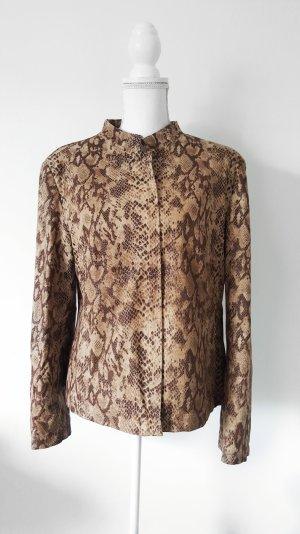 Quilted Jacket black-brown