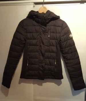 Superdry Quilted Jacket black nylon