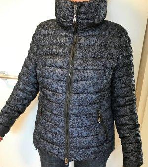 Veste matelassée bleu foncé-noir polyamide