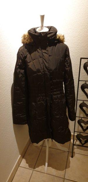 Gaddis Quilted Coat dark brown polyester