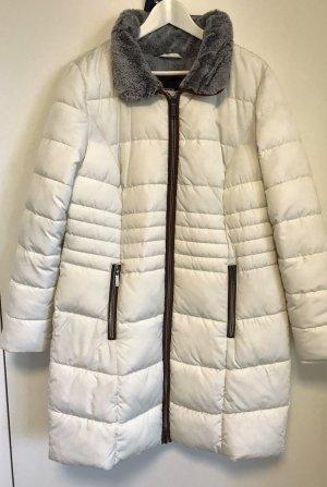 Bonita Abrigo acolchado blanco puro-color bronce Poliéster