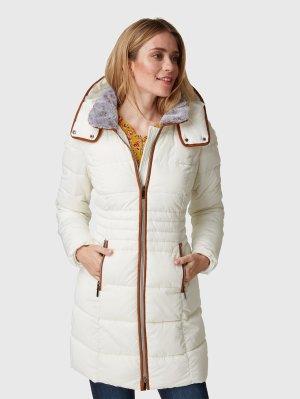 Bonita Gewatteerde jas wolwit-brons Polyester