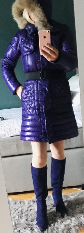 Quilted Coat dark violet-black