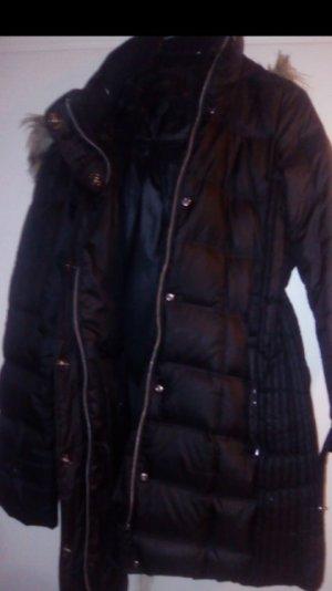 Esprit Quilted Coat black-camel