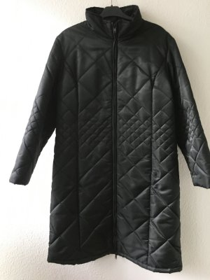 Quilted Coat black polyamide