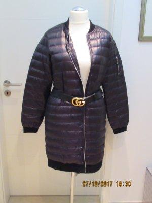 Zara Manteau court noir tissu mixte