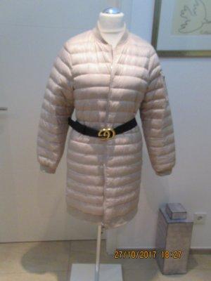 Zara Manteau court blanc cassé tissu mixte