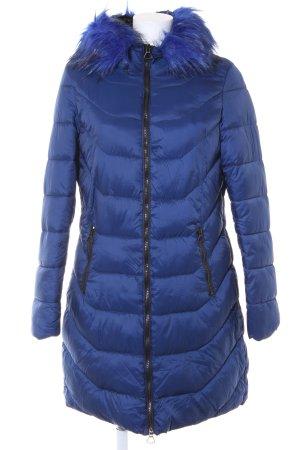 Manteau matelassé bleu molletonné