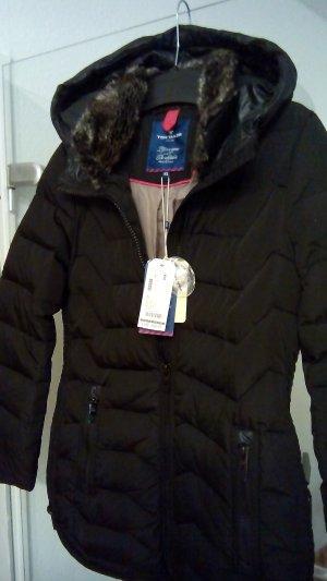 Tom Tailor Abrigo de plumón negro Poliéster