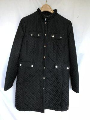 Gewatteerde jas zwart Synthetisch
