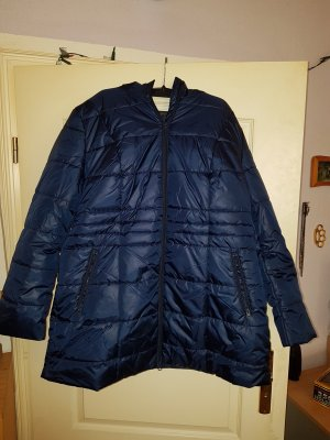 Rainbow Quilted Coat blue polyester