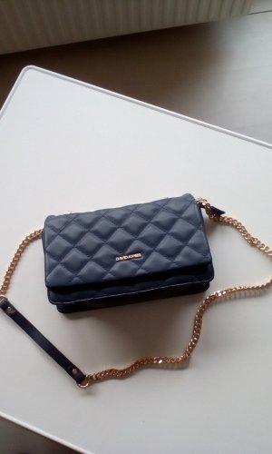 Bolsa de hombro azul oscuro Imitación de cuero