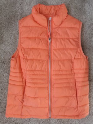 Charles Vögele Quilted Gilet neon orange