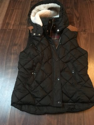 H&M L.O.G.G. Quilted Gilet olive green