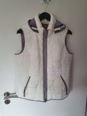 Bonita Quilted Gilet white-grey