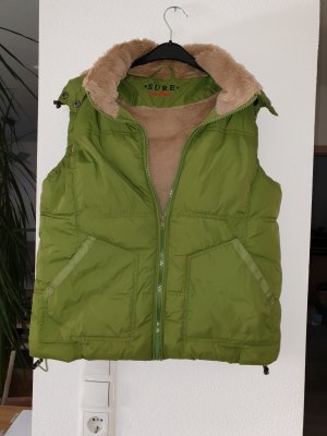 Quilted Gilet grass green