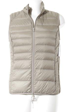 Gewatteerd vest beige quilten patroon casual uitstraling