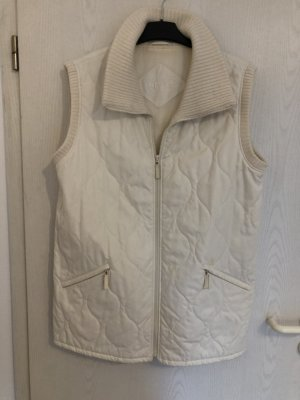 Gerry Weber Quilted Gilet natural white mixture fibre