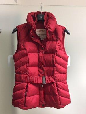 Steppweste Esprit 42 rot mit abnehmbarer Kaputze, wie NEU