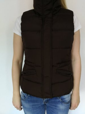 C&A Quilted Gilet brown polyester