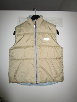 Reversible Vest oatmeal-pale blue