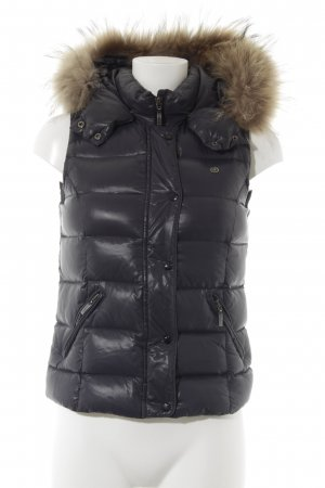 Quilted Gilet slate-gray casual look