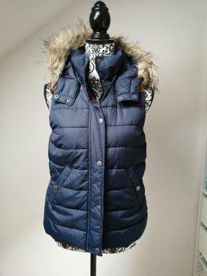 H&M Gewatteerd vest blauw-donkerblauw