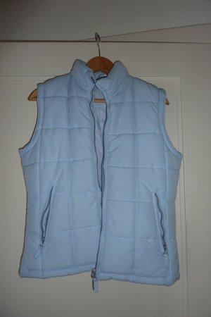 Gewatteerd vest lichtblauw Polyester