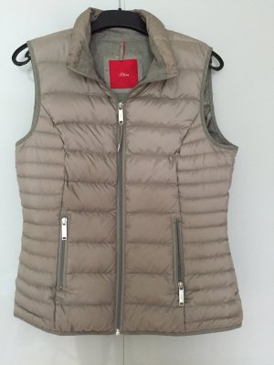 s.Oliver Quilted Gilet camel polyacrylic