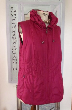 Walbusch Quilted Gilet magenta polyester