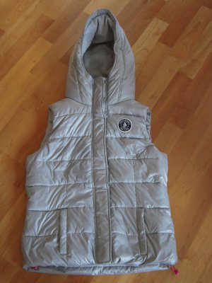 Abercrombie & Fitch Quilted Gilet light grey polyester