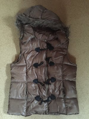 Quilted Gilet bronze-colored-light brown