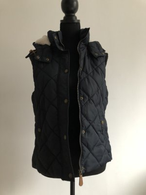 H&M L.O.G.G. Quilted Gilet dark blue
