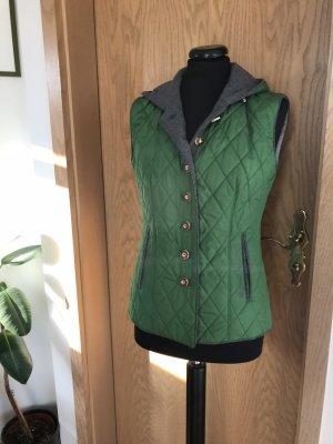 Trachten-Mad'l Chaleco folclórico verde-gris