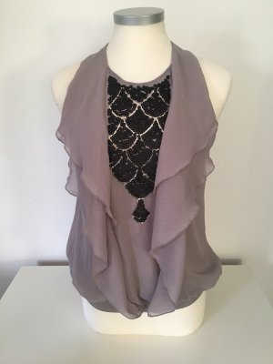 Steps Sleeveless Blouse black-gold-colored