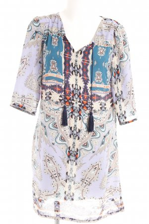 Steps Long-Bluse Aztekenmuster Boho-Look