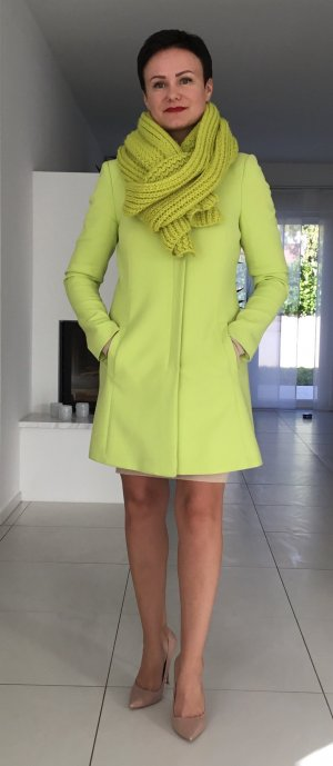 Steps Short Coat lime yellow-neon yellow