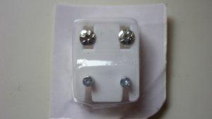 sterilisierte Ohrringe in silberfarben weiss neu OVP