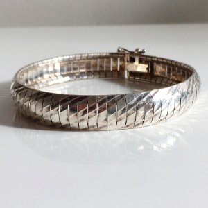Sterling 925 Silber Armband Modernist Designer Armreifen Armband 925er Silber Vintage 70er 60er