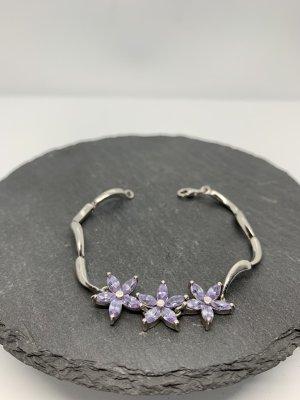 Silver Bracelet silver-colored-purple