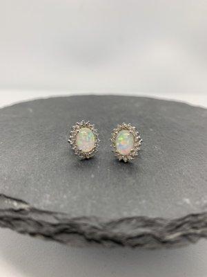 Sterling silber 925 ohrstecker opal neu