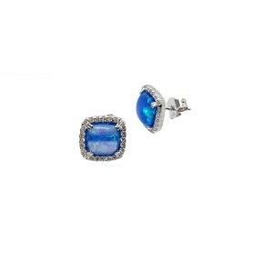 Sterling silber 925 opal ohrstecker