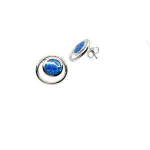 Sterling silber 925 opal ohrstecker neu