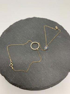 Silver Bracelet gold-colored