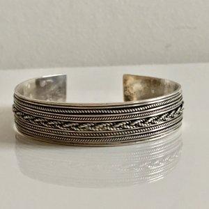 Sterling Silber 925 Vintage Designer Armspange 925 Silber Armband Armreifen