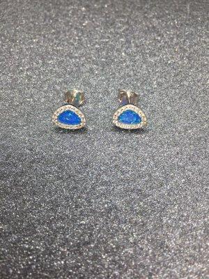 Sterling Silber925 ohrstecker bit blauem opal und steinen neu