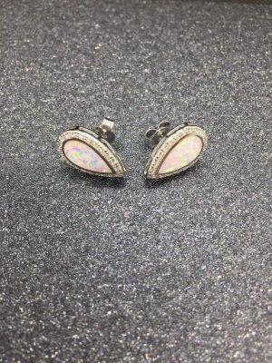 Sterling Silber925 ohrstecker opal weiss neu