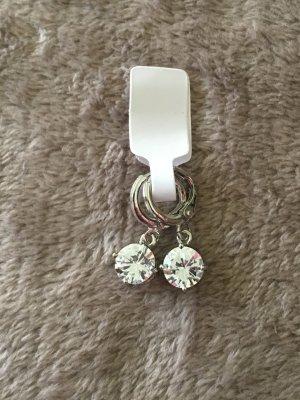 Sterling Silver 925 Ohrhänger weiß